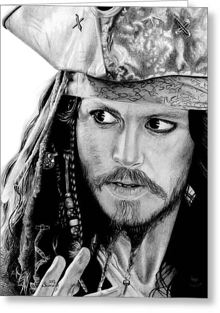 Captain Jack Sparrow Greeting Card by Kayleigh Semeniuk