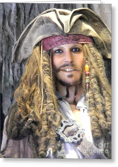 Captain Jack Sparrow Art Greeting Cards - Captain Jack Sparrow Pirates Of The Caribbean Greeting Card by Spirit Baker