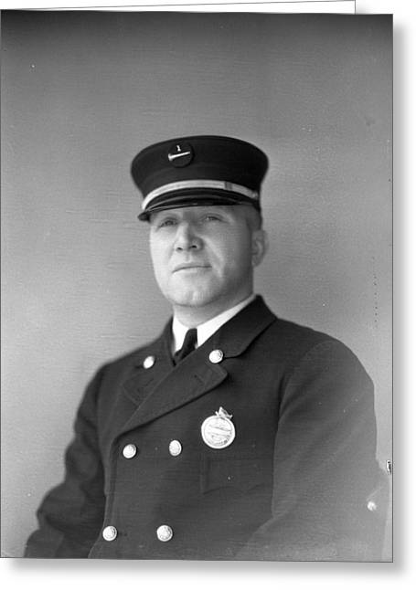 Usa Photographs Greeting Cards - Captain Kinch of the Century of Progress Fire Department Chicago  Greeting Card by Retro Images Archive