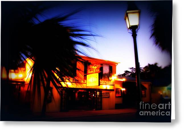 Captain Tony's Bar In Key West Florida Greeting Card by Susanne Van Hulst