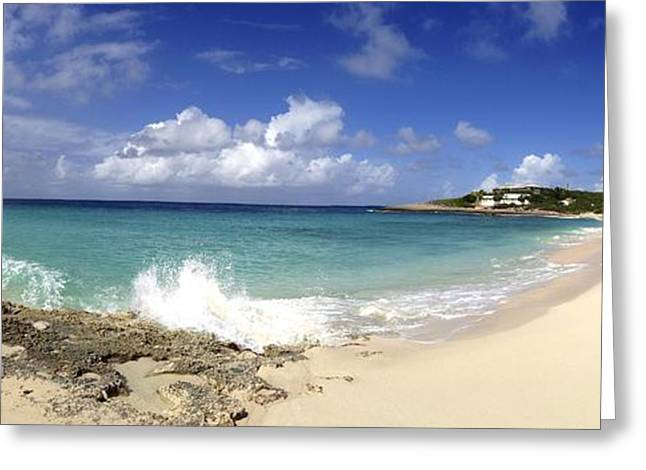 Vaction Greeting Cards - Captains Bay Panoramic View Greeting Card by Jennifer Lamanca Kaufman