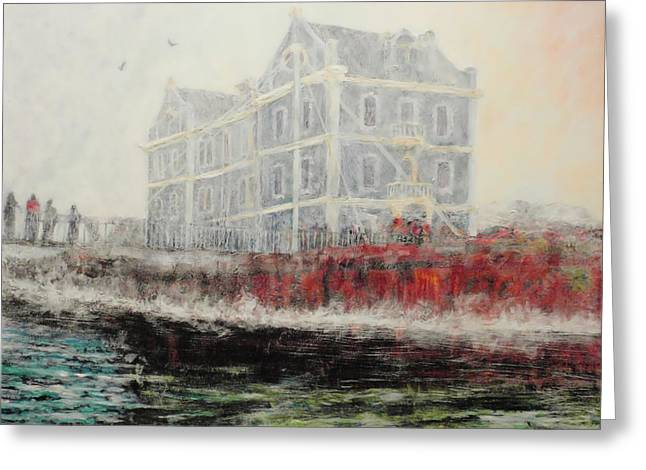 Cape Town Paintings Greeting Cards - Captains Manor in the Fog Greeting Card by Michael Durst