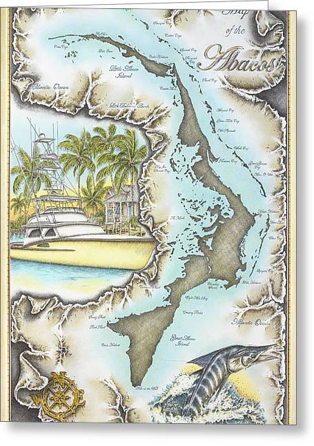 Striped Marlin Greeting Cards - Captains Quarters Greeting Card by Mike Williams