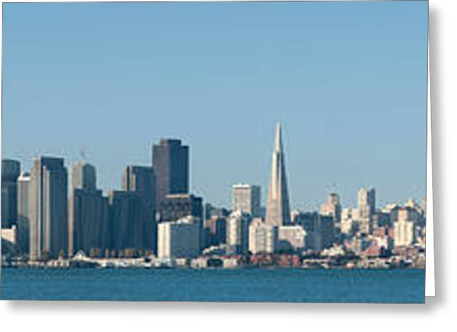 San Francisco Bay Greeting Cards - Captioncity At The Waterfront, San Greeting Card by Panoramic Images