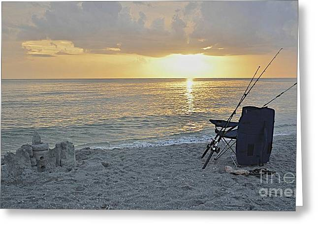 Sand Castles Greeting Cards - Captiva Sunset Greeting Card by Carol  Bradley