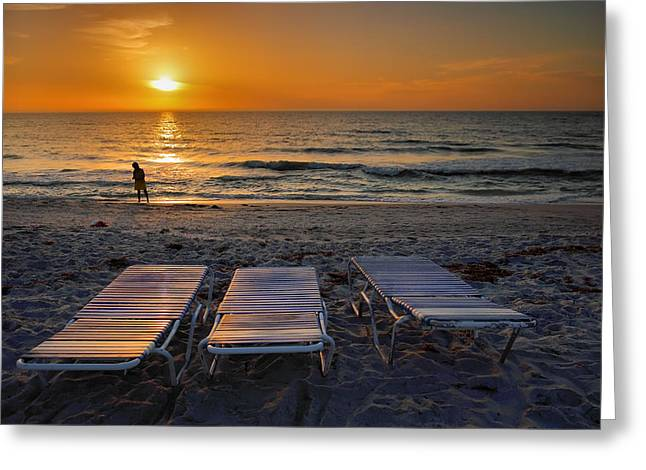 Sunset Prints Greeting Cards - Captiva Sunset I Greeting Card by Steven Ainsworth