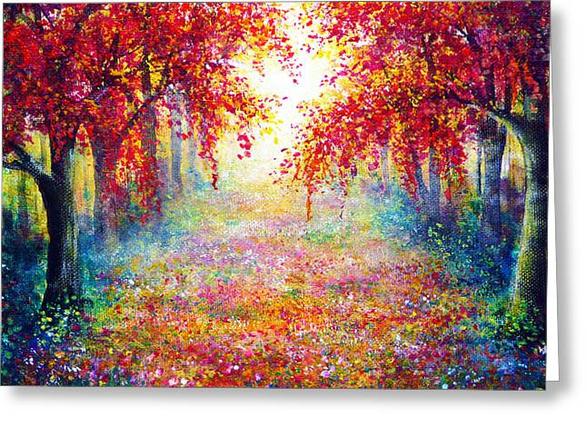 Kinkade Greeting Cards - Captivate Greeting Card by Ann Marie Bone