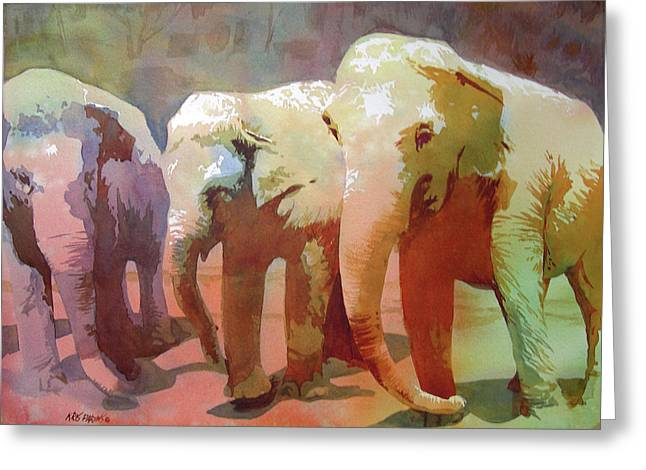 Trio Greeting Cards - Captive Audience Greeting Card by Kris Parins