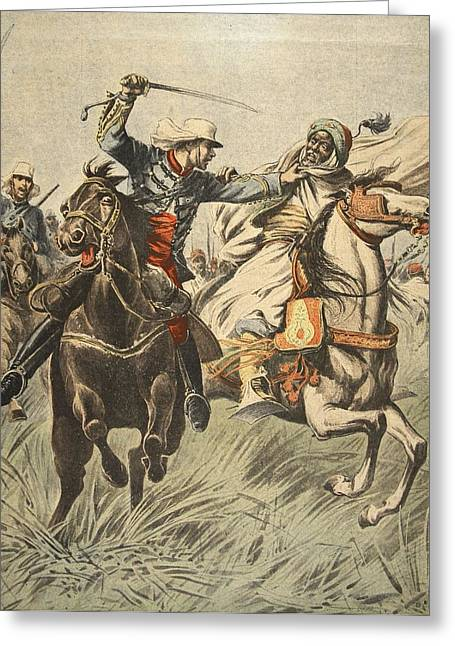 Resistance Greeting Cards - Capture Of Samory By Lieutenant Greeting Card by French School