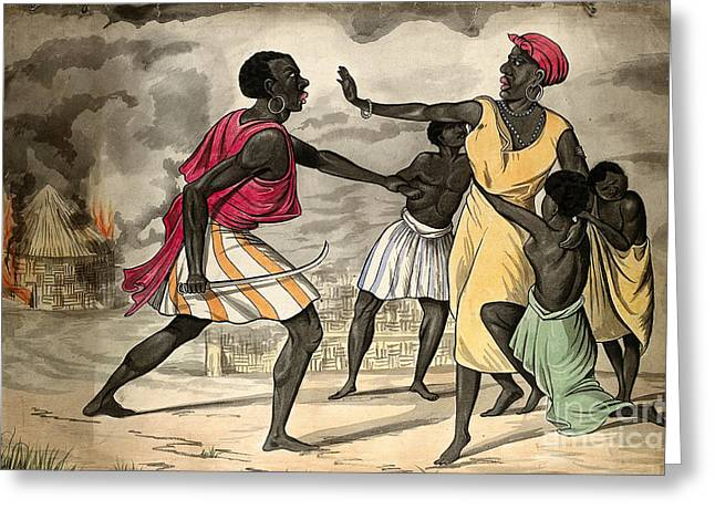 Enslave Greeting Cards - Capture Of Slaves By African Slave Greeting Card by Wellcome Images