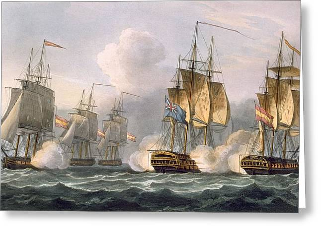 Fleeting Greeting Cards - Capture Of The Dorothea Greeting Card by Thomas Whitcombe