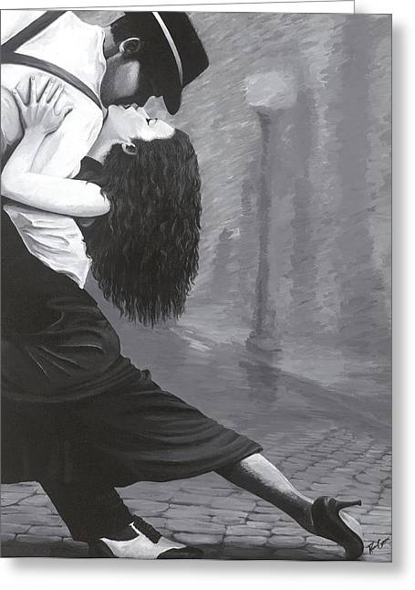 Fancy-dancer Paintings Greeting Cards - Capture Passion Greeting Card by Rachel Galicia