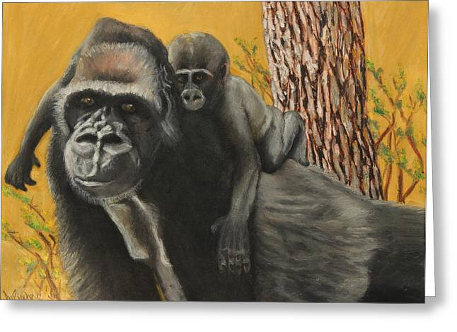 Adult Pastels Greeting Cards - Captured Bernigie Greeting Card by Jeanne Fischer