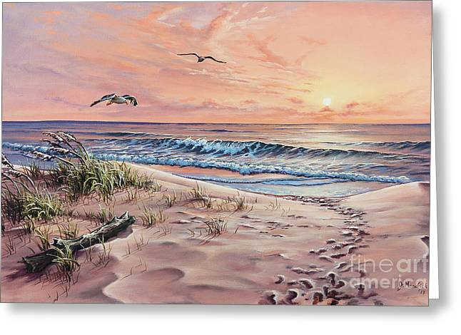 Florida Gulf Coast Greeting Cards - Captured in the Morning Light Greeting Card by Joe Mandrick