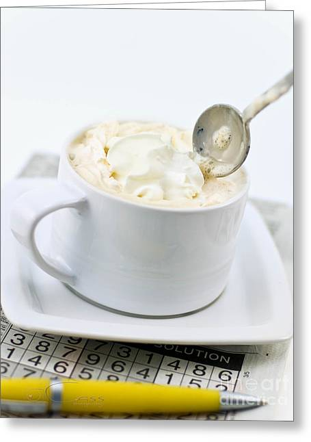 Capuccino Greeting Cards - Capuccino Puzzle Greeting Card by Cass Peterson