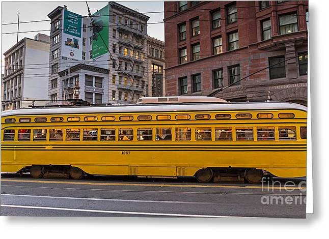 Downtown San Francisco Greeting Cards - Car 1057 Greeting Card by Kate Brown