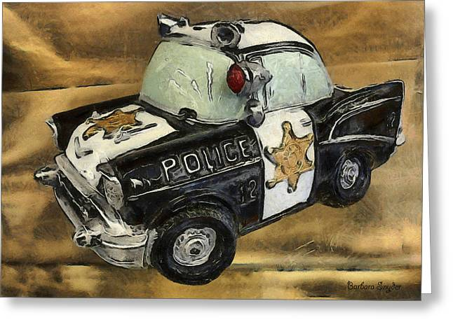 Police Patrol Law Enforcement Greeting Cards - Car 12 Where Are You Greeting Card by Barbara Snyder