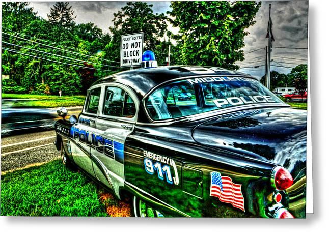 Police Cruiser Greeting Cards - Car 54 004 Greeting Card by Jeff Stallard