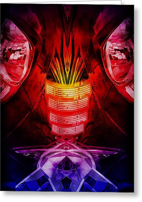 Horror Car Greeting Cards - Car abstract Greeting Card by Nathan Wright
