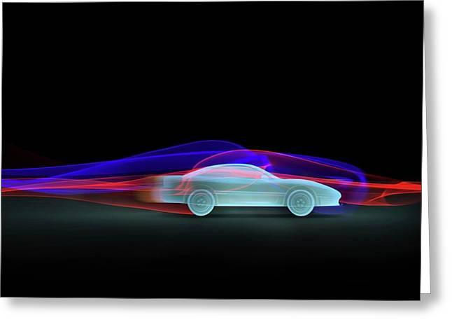 Car Aerodynamics Modelling Greeting Card by Wladimir Bulgar