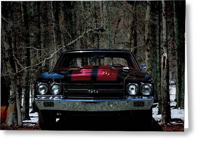 Automobile Greeting Cards - Car Art Chevy Chevelle SS HDR Greeting Card by Lesa Fine