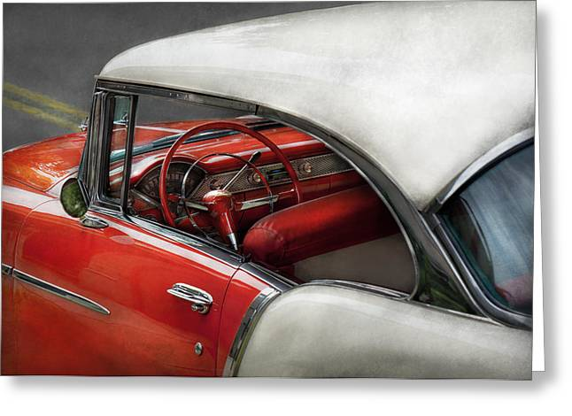 Customizable Greeting Cards - Car - Classic 50s  Greeting Card by Mike Savad