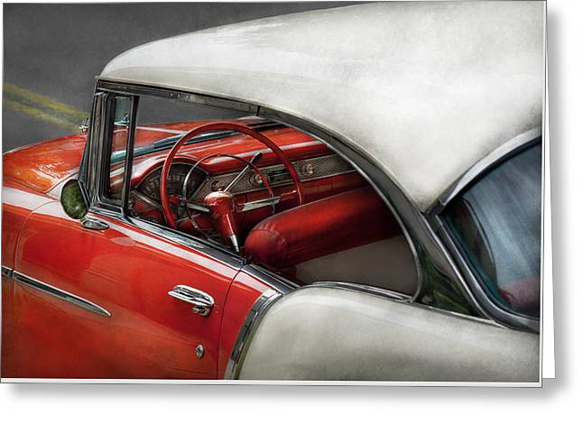 Open Car Greeting Cards - Car - Classic 50s  Greeting Card by Mike Savad