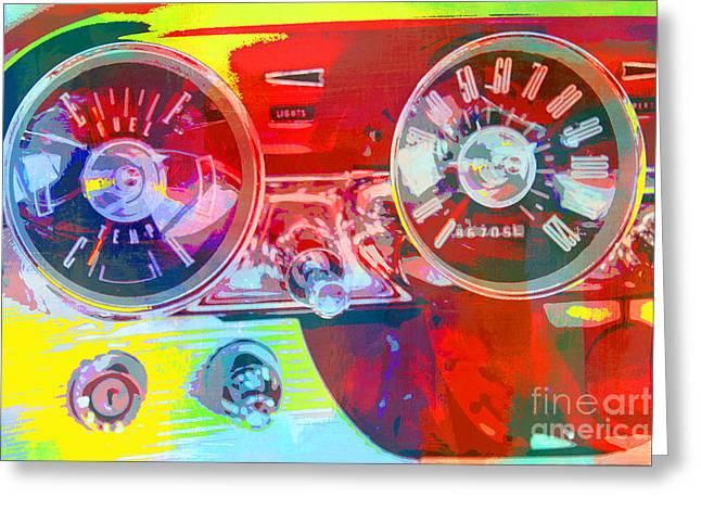 Adspice Studios Art Greeting Cards - Car dashboard Pop Art Greeting Card by ArtyZen Studios - ArtyZen Home