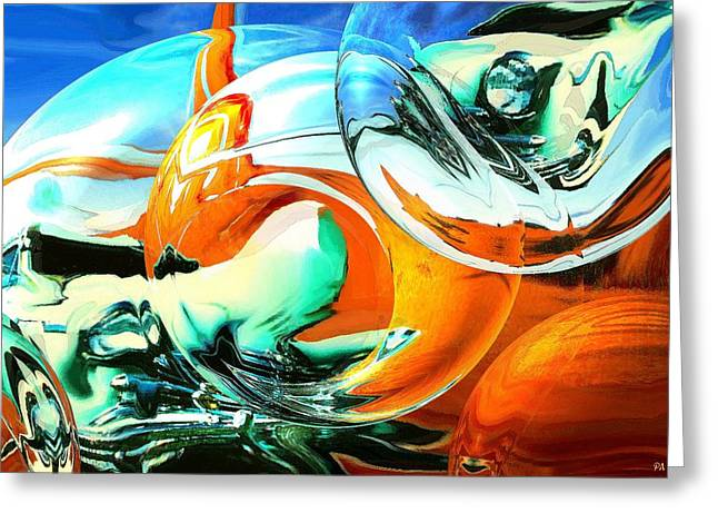 Car Fandango - Abstract Art Greeting Card by Art America Online Gallery
