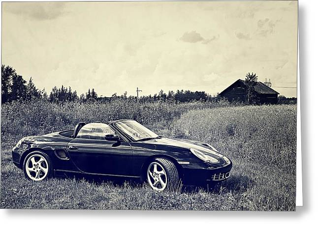 The 2002 Porsche Boxster S Car Greeting Card by Carol  Lux Photography