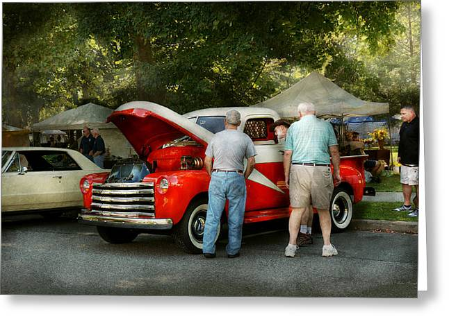 Car - Guys And Cars Greeting Card by Mike Savad