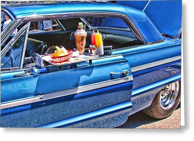 Ketchup Digital Greeting Cards - Car Hop Greeting Card by Audreen Gieger-Hawkins