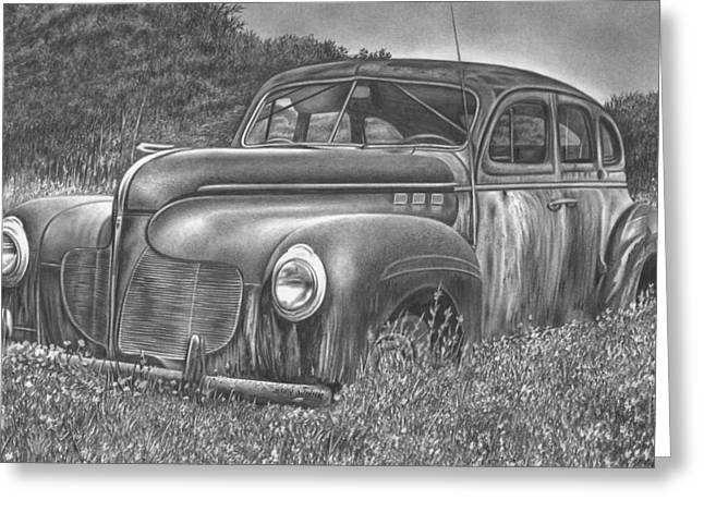 Photorealism Greeting Cards - Car Greeting Card by Jerry Winick