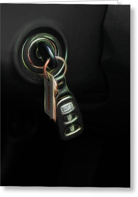 Ignition Greeting Cards - Car Keys Greeting Card by Linda Phelps