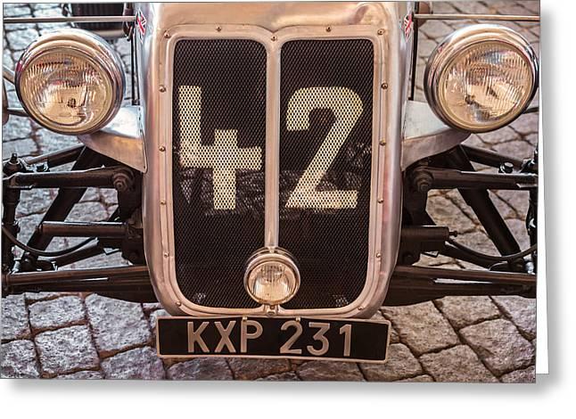 Racecar Number Greeting Cards - Car Number 42 Greeting Card by Martin Bergsma