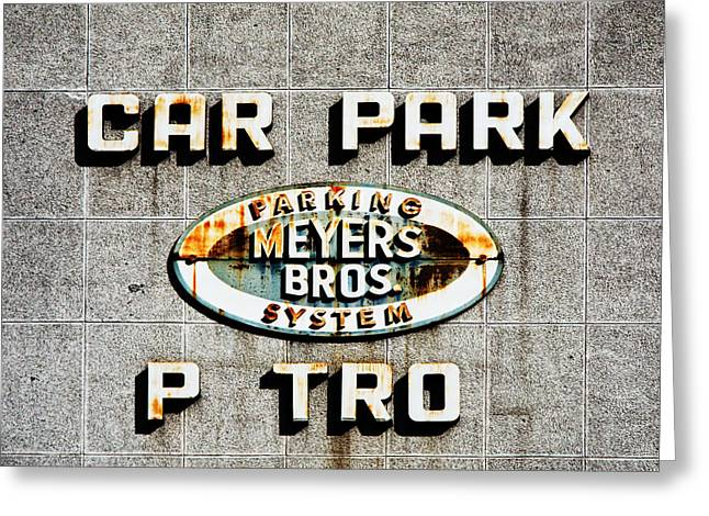 Car Park Greeting Cards - Car Park Greeting Card by Osvaldo Hamer