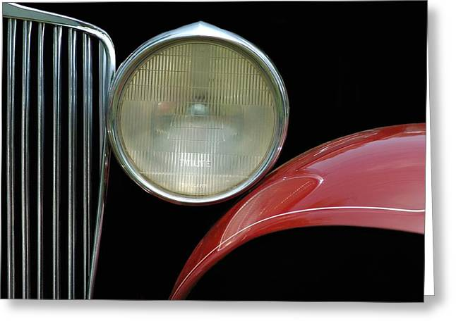 Headlight Greeting Cards - Car Parts Greeting Card by Dan Holm