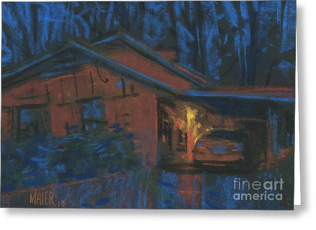 Car Pastels Greeting Cards - Car Port Greeting Card by Donald Maier