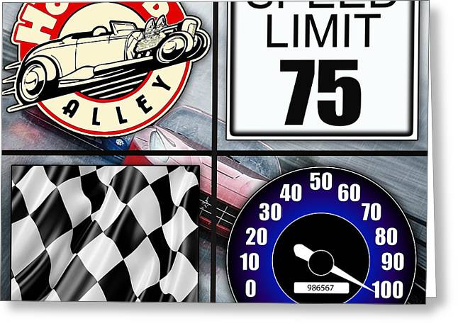 Car Racing Greeting Cards - Speed Demon Art for Boys and Men Greeting Card by Marvin Blaine