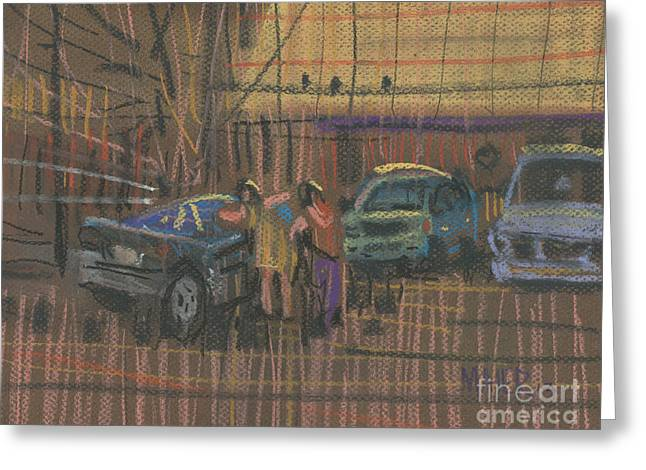 Dealer Greeting Cards - Car Shopping Greeting Card by Donald Maier