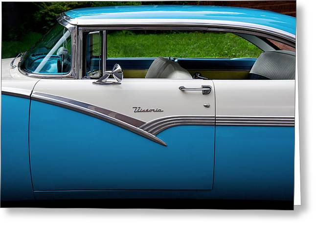 2 Seat Greeting Cards - Car - Victoria 56 Greeting Card by Mike Savad