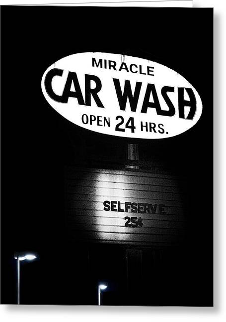 Retail Art Greeting Cards - Car Wash Greeting Card by Tom Mc Nemar