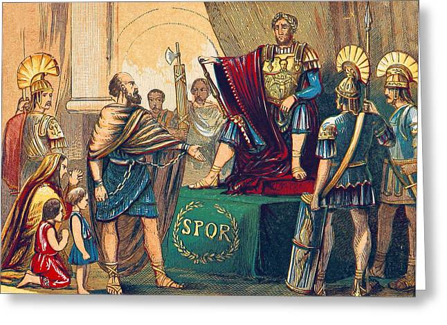 Caractacus Before Emperor Claudius, 1st Greeting Card by British Library