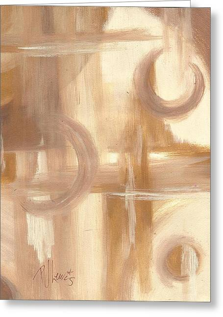 Beige Abstract Greeting Cards - Caramel and Cream Greeting Card by P J Lewis