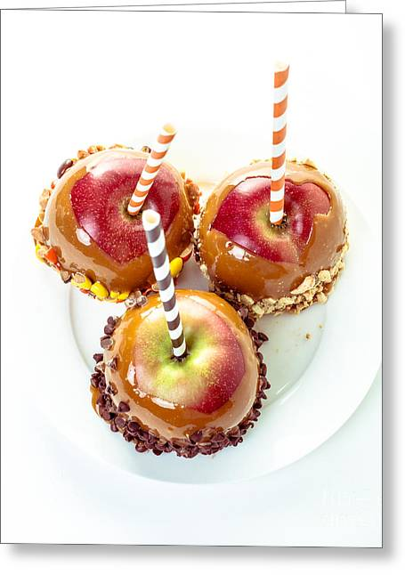 Candy Apples Greeting Cards - Caramel Apples Greeting Card by Edward Fielding