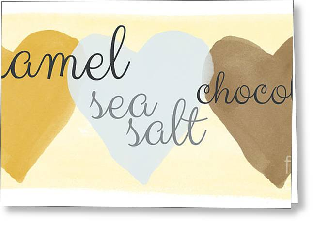 Bakery Greeting Cards - Caramel Sea Salt and Chocolate Greeting Card by Linda Woods