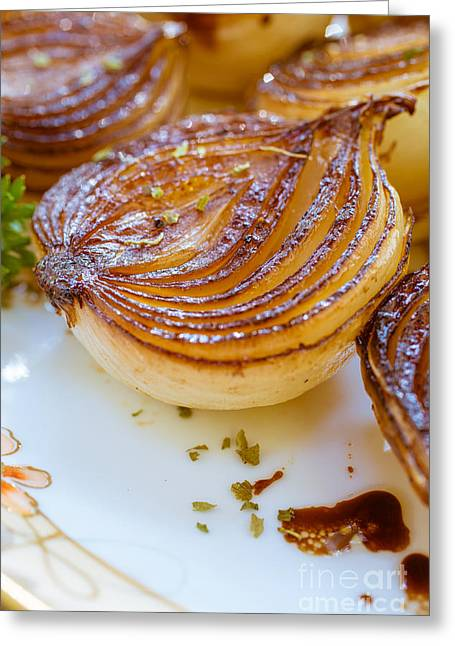 Balsamic Greeting Cards - Caramelized Balsamic Onions Greeting Card by Edward Fielding