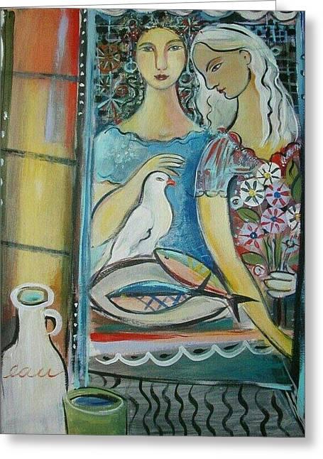 Caravan Of Dream Greeting Card by Marlene LAbbe