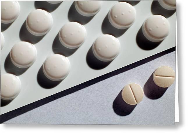 Carbimazole Hyperthyroid Drug Greeting Card by Victor De Schwanberg