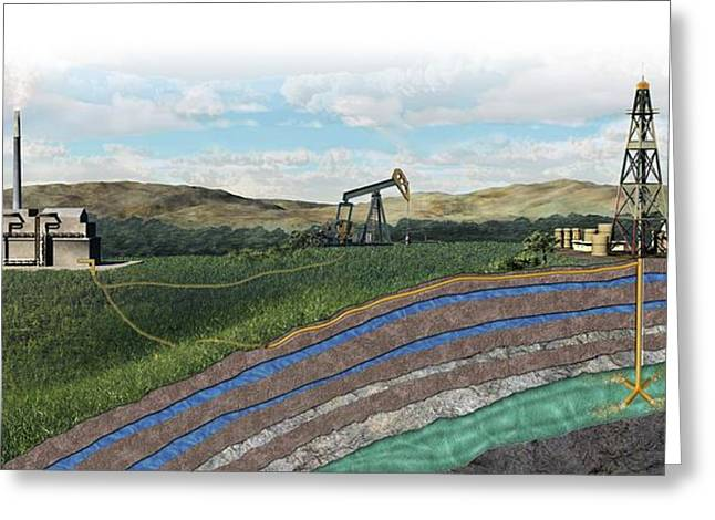 Carbon Capture Technology Greeting Card by Nicolle R. Fuller